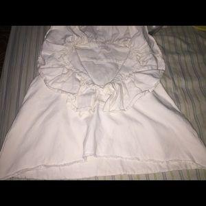 Chloe Ruffle Cotton-Linen Top